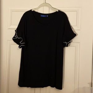 Beaded Black Sleeve Blouse. XXL - Apt 9